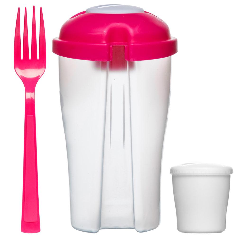 Recipiente para ensalada take away tape pink for Recipiente para utensilios de cocina