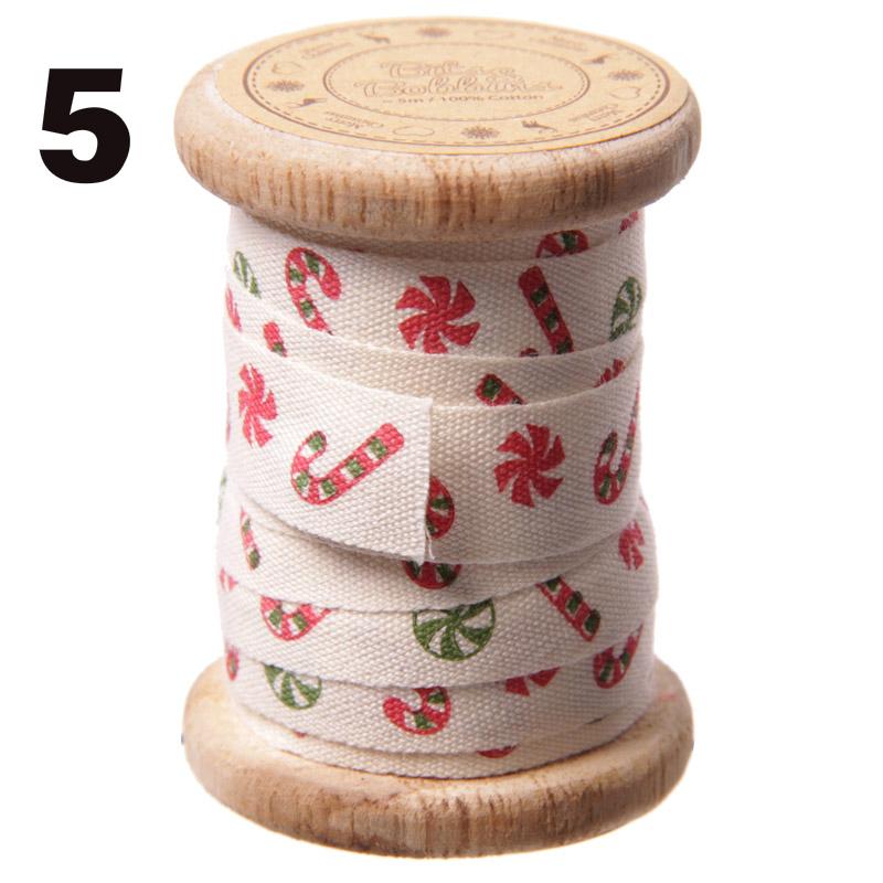 Cinta de tela navidad con bobina de madera tape pink - Cinta de navidad ...
