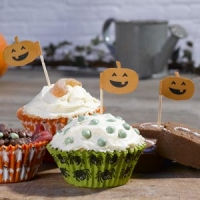 Kit Halloween moldes cupcakes y toppers