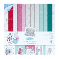 Set de papel glitter Winter Wonderland