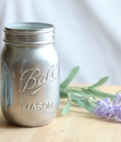 Tarro Mason Jar Pint Regular 475ml color efecto metal