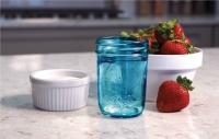 Bote Mason Jar Half Pint azul 240ml