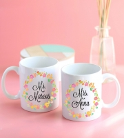 Set 2 tazas Mr & Mrs personalizadas