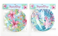 Platos papel tropical