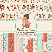 Set papel scrapbooking 15,2cm x 15,2cm Belle & Boo