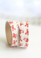 Washi tape candy cane con lacitos