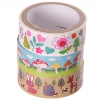 Pack 3 Washi Tape amigos del bosque