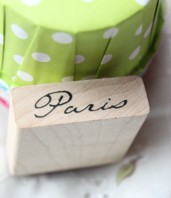 "Sello madera "" Paris"""